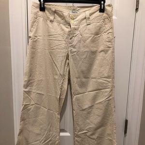 Abercrombie & Fitch Wide Leg Seersucker Pants